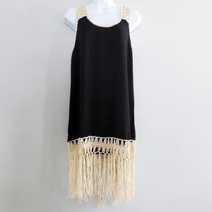 Umgee SMALL Boho Fringe Dress